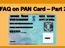 FAQs on PAN Card – Part 2 Documents Required to Apply for PAN Card