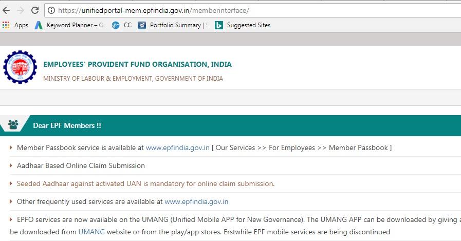 Visit UAN portal: