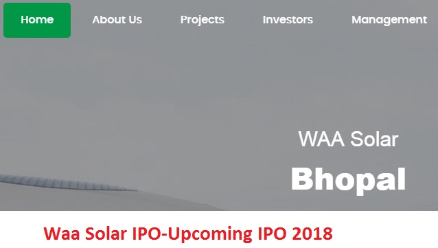 Waa Solar IPO-Upcoming IPO 2018