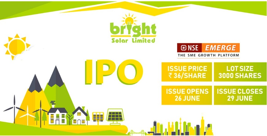 Upcoming IPO Bright Solar IPO and IPO Allotment Status