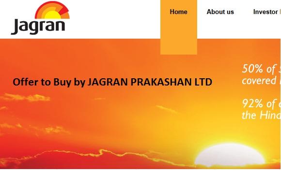 Offer to Buy by JAGRAN PRAKASHAN LTD