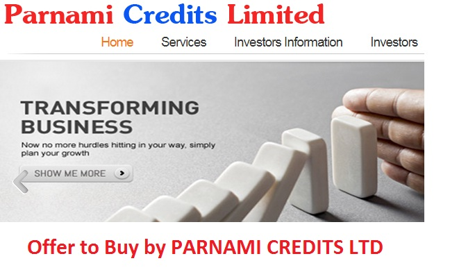 Offer to Buy by PARNAMI CREDITS LTD